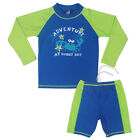 New Boys Long Sleeve Tops + Pants Swimwear Kids Crab UV 50+ Surf Swimsuit 5 Size