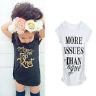 Toddler Kids Baby Girl Summer Cotton Clothes Sleeveless Tops T-Shirt Dress 1-7Y