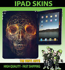 IPAD AIR SKIN VINYL STICKER ABSTRACT SKULL WIRE DARK GOTHIC ROSES SELF ADHESIVE