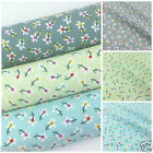 April Flowers 100% cotton fabric  sold per fat quarter half metre or metre