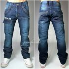Peviani bar jeans, mens, boys true, combat g denim straight star pants cargo m