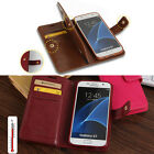Leather Case Flip Wallet Card Holder Dual Cover For Samsung Galaxy S7 /S7 EDGE