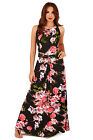 Pistachio Womens Long Multi Floral Summer Maxi Ladies Holiday Long Evening Dress