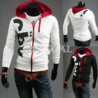PODOM Mens Casual Zip Hoodie Hooded Sweatshirt Jumper Coat Jacket Outwear Tops