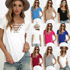 Summer Sexy Women's Girls Loose Pullover T Shirt Short Sleeve Cotton Tops Shirt