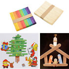 50/100/200X Wooden Lollipop Popsicle Ice Lolly Sticks Arts Cake Crafts Model TBU
