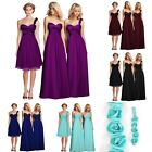 Bridesmaid Taffeta Chiffon Maid Honor Wedding Party Dress Flower 4-6-8-10-12-14
