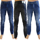 Crosshatch Friars Mens Utility Denim Jeans Straight Leg Cargo Combat Trousers
