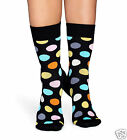 Happy Socks 1 Pair Women's Socks Big Multi Dots Black 36-40