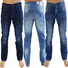 Crosshatch Sandalwood Mens Jeans Cotton Multi Pocket Straight Cut Denim Trousers