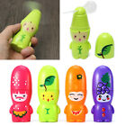 Mini Portable Cartoon Fruit Handheld Cooling Fan Mute Battery Operated Cooler