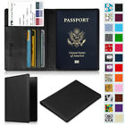 Passport Holder Travel Wallet Leather RFID Blocking Case Cover Credit Cards Slot