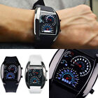 Fashion Men's Black Stainless Steel Luxury Sport Analog Quartz LED Wrist Watch image