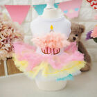 Dog Dress Puppy Clothes Dog Birthday Cake Skirt Dress Dog Doggie Lace Tutu Skirt