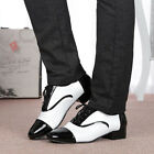 New Men Modern Lace Up Low Heel Shoes Ballroom Latin Tango Leather Dancing Shoes