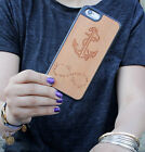Natural Wood Case. iPhone Case. Samsung Galaxy Case. Cherry Wood. Anchor