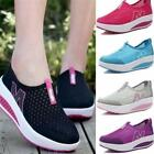 Women's Sneakers Flats Athletic Mesh Breathable Platform Sport Casual Shoes - LD