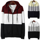 Mens Luxury Hoodie Jacket Cardigan Sweater Jumper Blazer Top Zip-Up W148 - S/M