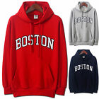 Mens BOSTON Hoodie Jacket Cardigan Sweater Jumper Blazer Top T-Shirts W206- S/M