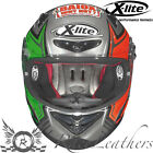 XLITE X802R M MAIOCCO RACE REP SCRATCHED CHROME MOTORCYCLE HELMET FREE VISOR