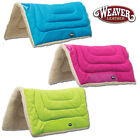 WEAVER ECONOMY HORSE SADDLE PAD GLITTER PATTERN VINYL FLEECE FELT BOTTOM