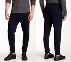 HUGO BOSS Men Cotton Blend Track Long Pant Cuffs in Dark Blue NEW NWT
