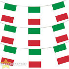ITALY BUNTING 33,100,200,400FT LARGE DECORATION NATIONAL COUNTRY FLAG