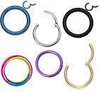 New Colour plating Surgical Steel Hinged Segment Ring Septum Clicker Hoop