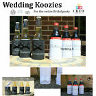 NEW Wedding Koozies Personalised Design Stubby Bridal Table Party Bride Groom