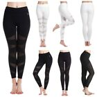 Fashion Women Mesh Panels Workout Sports Gym Yoga Leggings Pants Fitness Trouser