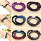 Women's Stardust Crystal Wrap Mesh Magnet Bracelet Bangle Necklace Jewelry Gift