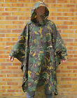 DUTCH ARMY SURPLUS ISSUE WOODLAND DPM WATERPROOF NYLON PONCHO,GRADE 1 OR 2/NL