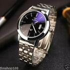 Mens Waterproof Date Noctilucent Stainless Steel Glass Quartz Analog Wrist Watch