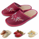 Ladies Slippers Size 6 New Womens 100% Natural Leather Size 3 4 5 6 7 8 Gift