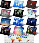 World Map Printed Rubberized Matte Hard Case Keyboard Cover For Macbook Pro Air