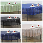 "90"" SEQUIN Round TABLECLOTHS Wedding Party Fundraiser Table Linens Decorations"