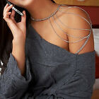 Beauty Punk Link Body One Shoulder Chain Hot Sexy Multi Tassel Chain Necklace