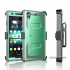 Hybrid Stand Holster Case for HTC Desire 626 626S w/ Built-in Screen Protector