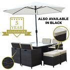 Wyoming Rattan 8 Seat Garden Patio Furniture Dining Cube Set By Woodside