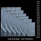 Grip Seal Bags Self Resealable Mini Grip Poly Plastic Clear Zip Lock [All Sizes]