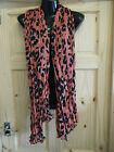 LARGE PINK BEIGE BROWN ANIMAL LEOPARD PRINT LADIES SCARF WRAP SHAWL UK SELLER