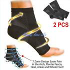 2pcs Unisex Foot Compression Sleeves Circulation Ankle Swelling Pain Relief - LD