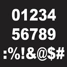 Numbers Window Decal Sticker Graphic Vinyls Write Your Own M
