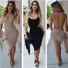 Vogue Womens Sexy Backless Bandage Bodycon Evening Party Cocktail Mini Dress