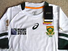 *ALL SIZES* SOUTH AFRICA RWC 2015 JERSEY ASICS Shirt RUGBY WORLD CUP ALTERNATE