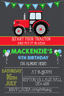 Personalised Boy/Girl Tractor Farm Birthday Party Invites inc Envelopes TR1