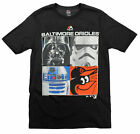 MLB Youth Baltimore Orioles Star Wars Main Character T-Shirt, Black