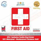 FIRST AID Sign *3 SIZES* Red Cross Health Safety Vinyl Sticker Decal Label
