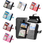 Rubber Stand Wallet 9 Cards Leather Case Cover For Samsung Galaxy S7 edge&Plus