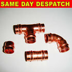 10mm or 8mm Solder Ring Copper fittings coupler elbow tee end feed stop end new